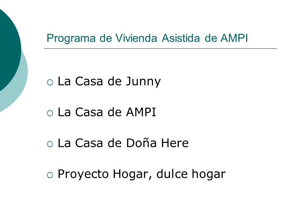 Programa de Vivienda Asistida de AMPI La Casa de Junny La Casa de AMPI La Casa de Doña Here Proyecto Hogar, dulce hogar