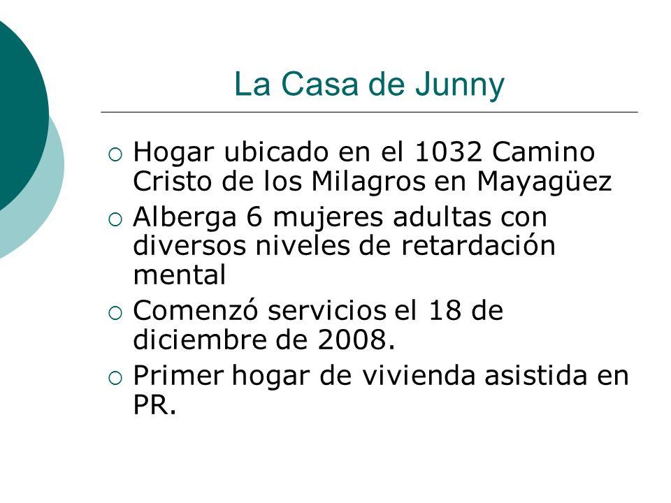 La Casa de Junny Hogar ubicado en el 1032 Camino Cristo de los Milagros en Mayagüez Alberga 6 mujeres adultas con diversos niveles de retardación ment