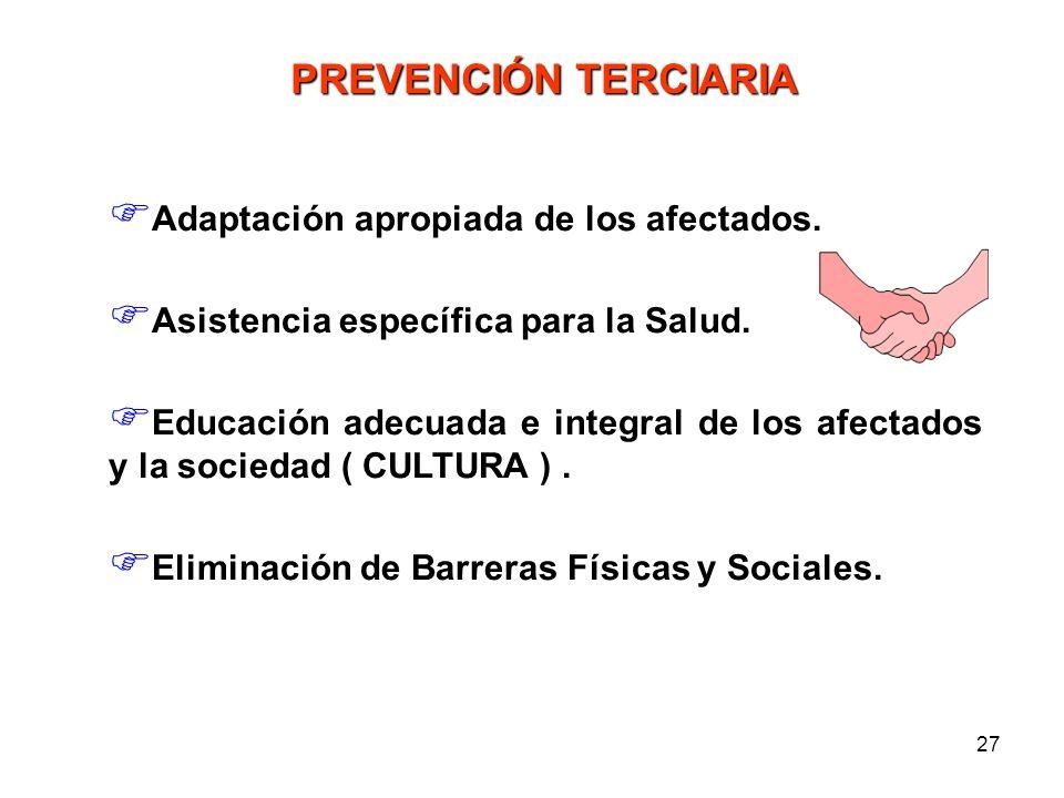 26 * No impide la producción de Defectos al Nacimiento Reduce su Impacto Reduce su Recurrencia a) Diagnóstico Temprano b) Tratamiento en útero - Médic