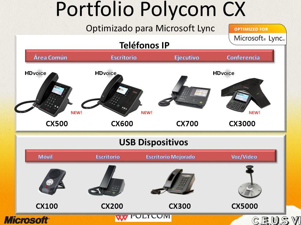 Portfolio Polycom CX Optimizado para Microsoft Lync CX500CX700CX600CX3000 Teléfonos IP CX100CX200CX300CX5000 USB Dispositivos NEW!