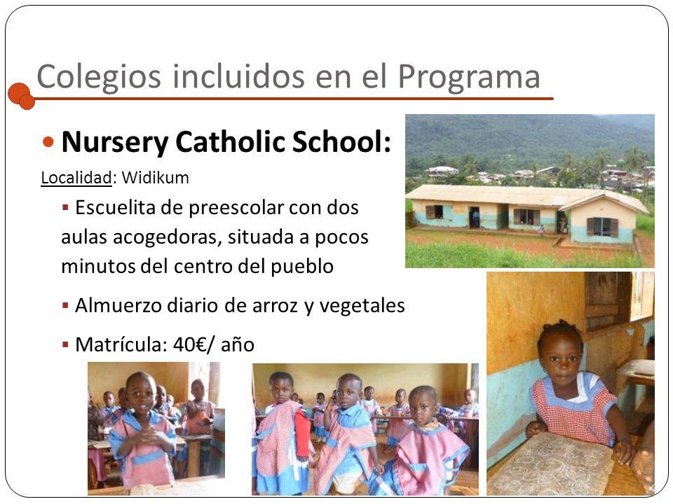 Colegios incluidos en el Programa Por ahora, el Programa se centra en la localidad rural de Widikum, al Oeste de Camerún En un futuro se prevé ampliar
