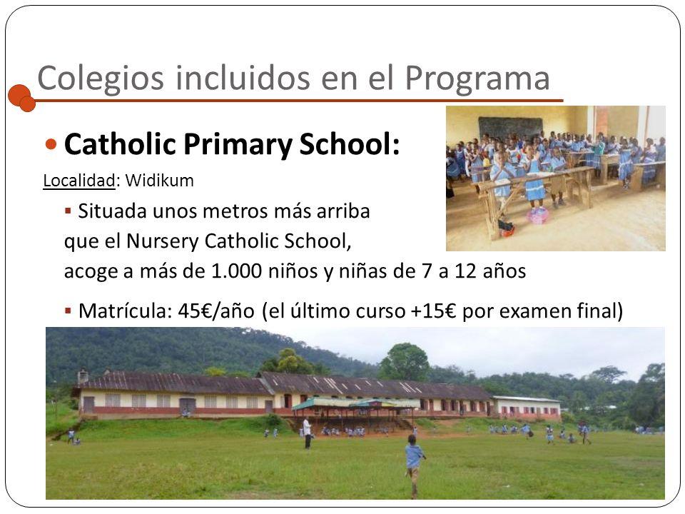 Colegios incluidos en el Programa Nursery Catholic School: Localidad: Widikum Escuelita de preescolar con dos aulas acogedoras, situada a pocos minuto