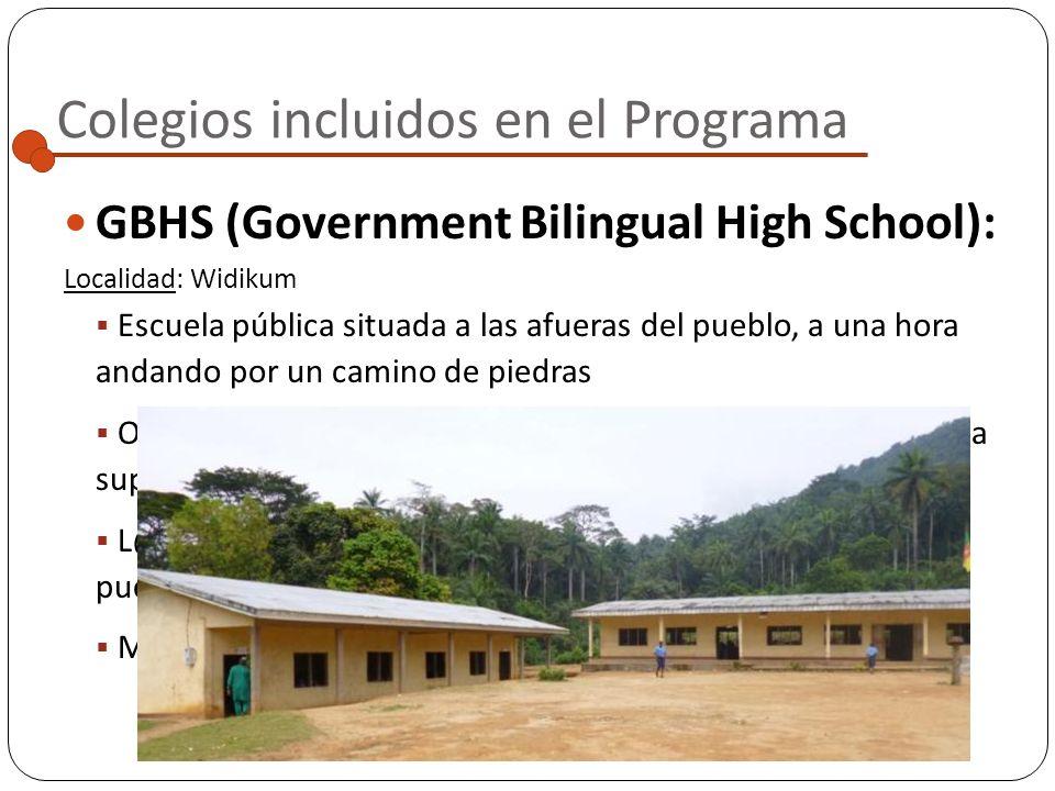 GTC (Government Technical College): Colegios incluidos en el Programa