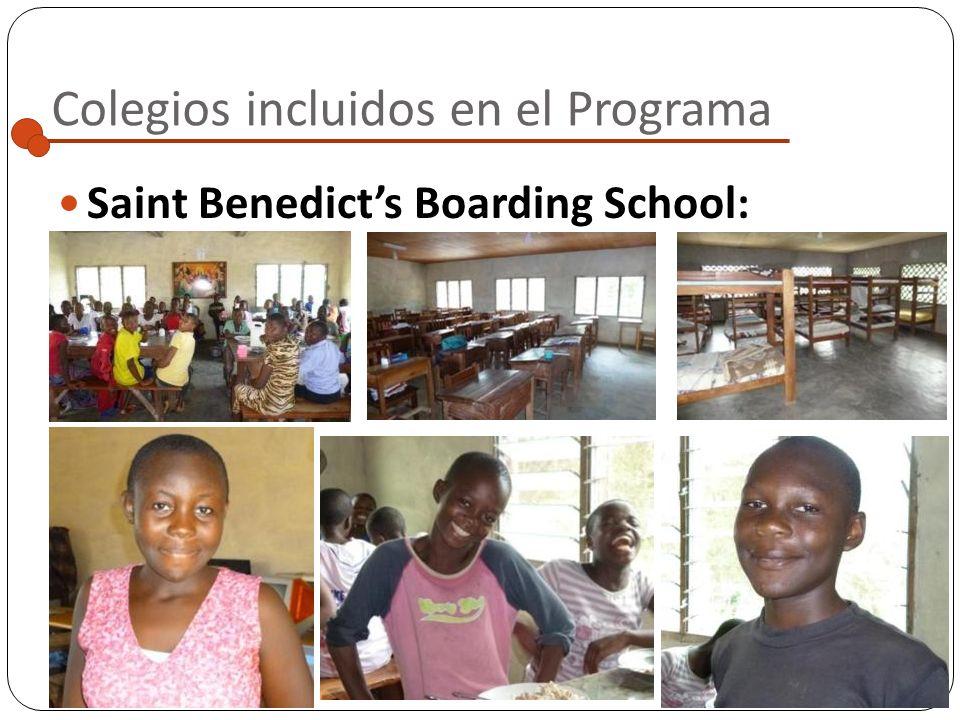Colegios incluidos en el Programa Saint Benedicts Boarding School : Localidad: Widikum Situado a las afueras del pueblo, de camino a Bifam Posibilidad