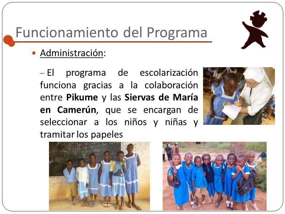 Funcionamiento del Programa Criterios de inclusión: A la hora de incluir a l@s niñ@s en el programa, se priorizan las siguientes condiciones: Niñ@s hu