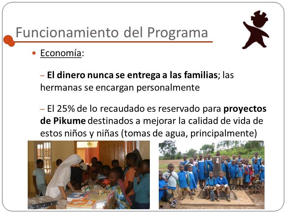 Funcionamiento del Programa Administración: – El programa de escolarización funciona gracias a la colaboración entre Pikume y las Siervas de María en