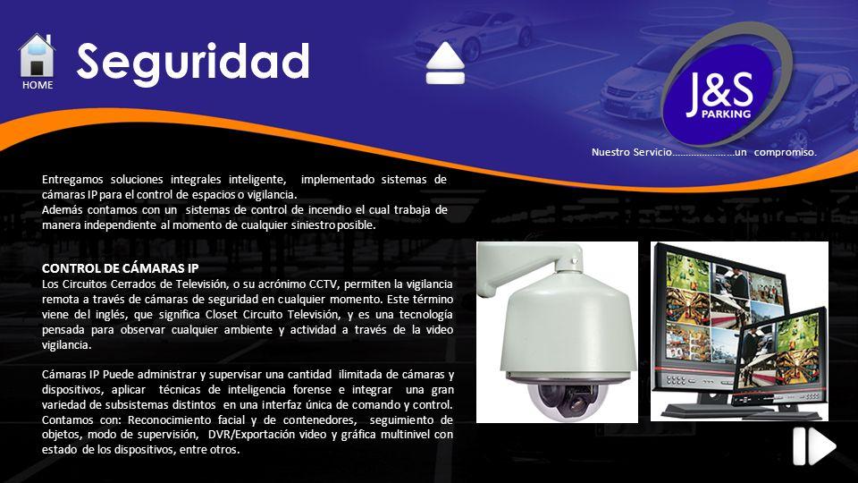 Seguridad Entregamos soluciones integrales inteligente, implementado sistemas de cámaras IP para el control de espacios o vigilancia. Además contamos