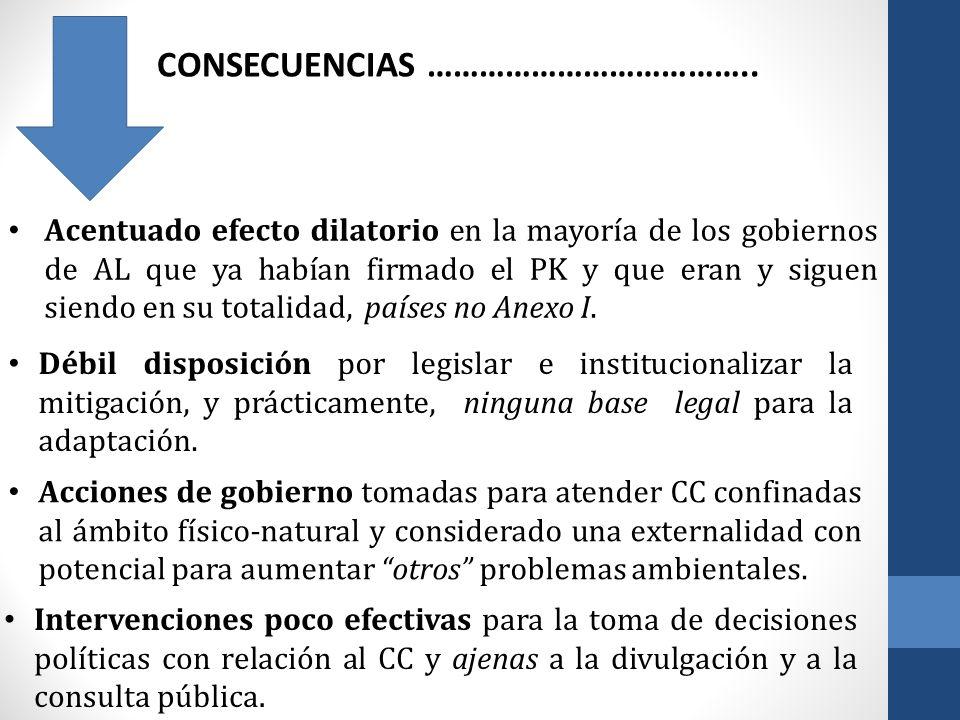 A PESAR DE……………………….., EN LOS NOVENTA 1994 Unidad de Cambio Climático (UCC ) adscrita a la Dirección Nacional de Medio Ambiente (DINAMA).