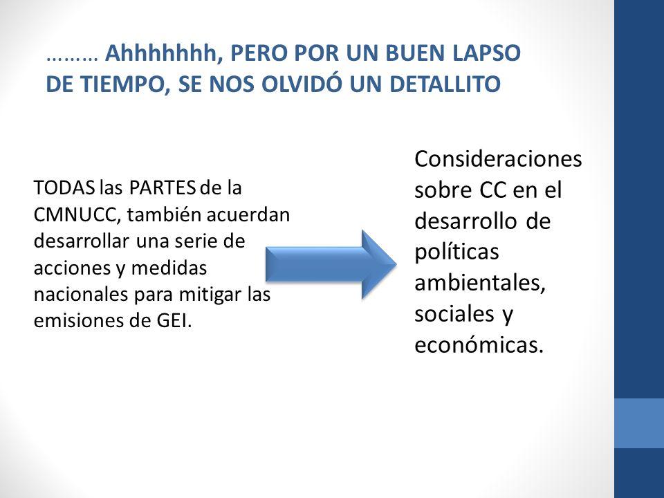 Acción/InstrumentoResultados y Lecciones aprendidas Identificación de impactos sociales del CC.