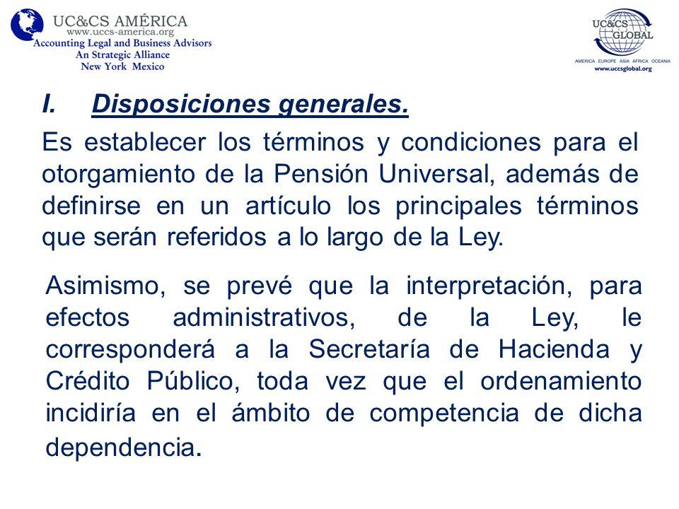 I.Disposiciones generales.