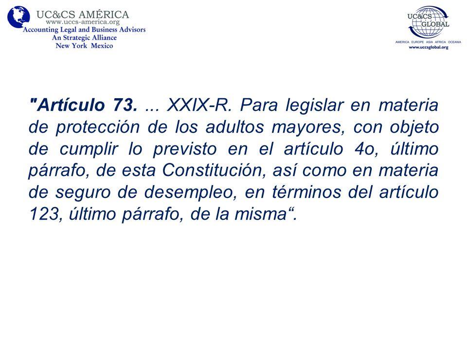 Artículo 73....XXIX-R.