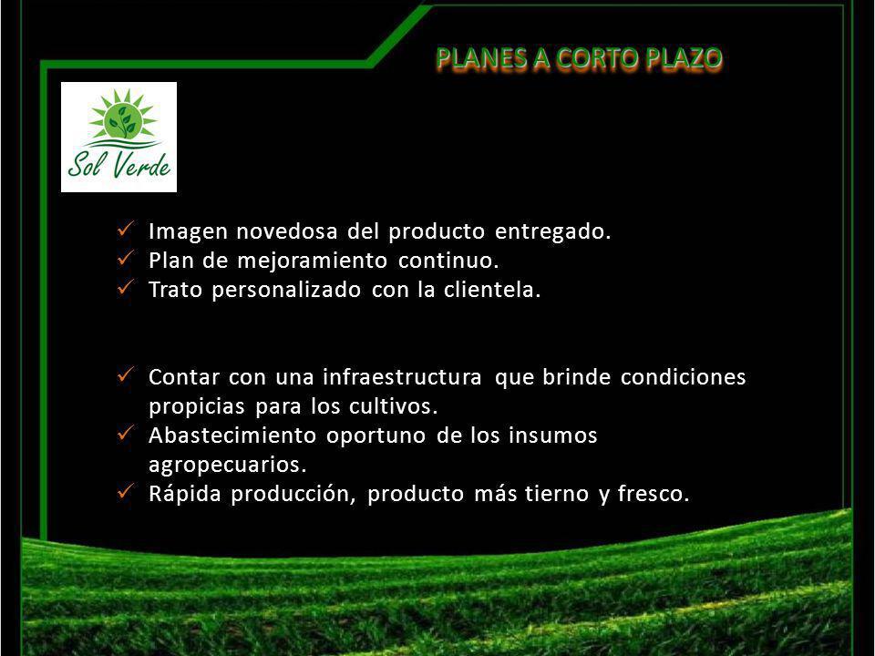 PLANES A CORTO PLAZO PLANES A CORTO PLAZO Imagen novedosa del producto entregado. Plan de mejoramiento continuo. Trato personalizado con la clientela.