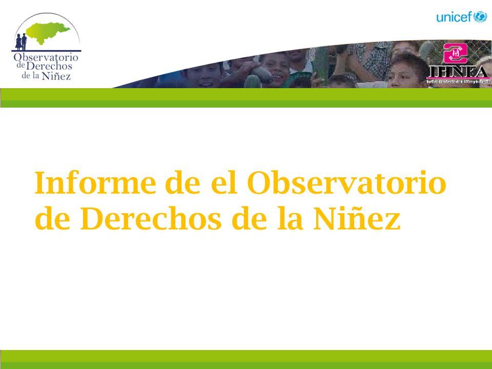 Informe de el Observatorio de Derechos de la Niñez