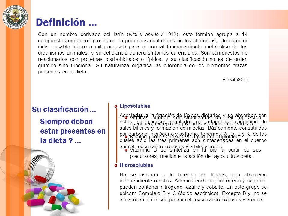 Definición … Con un nombre derivado del latín ( vital y amine / 1912 ), este término agrupa a 14 compuestos orgánicos presentes en pequeñas cantidades
