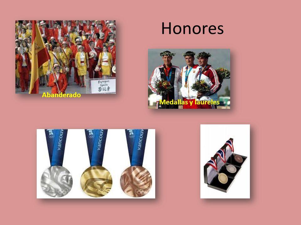 Honores Abanderado Medallas y laureles