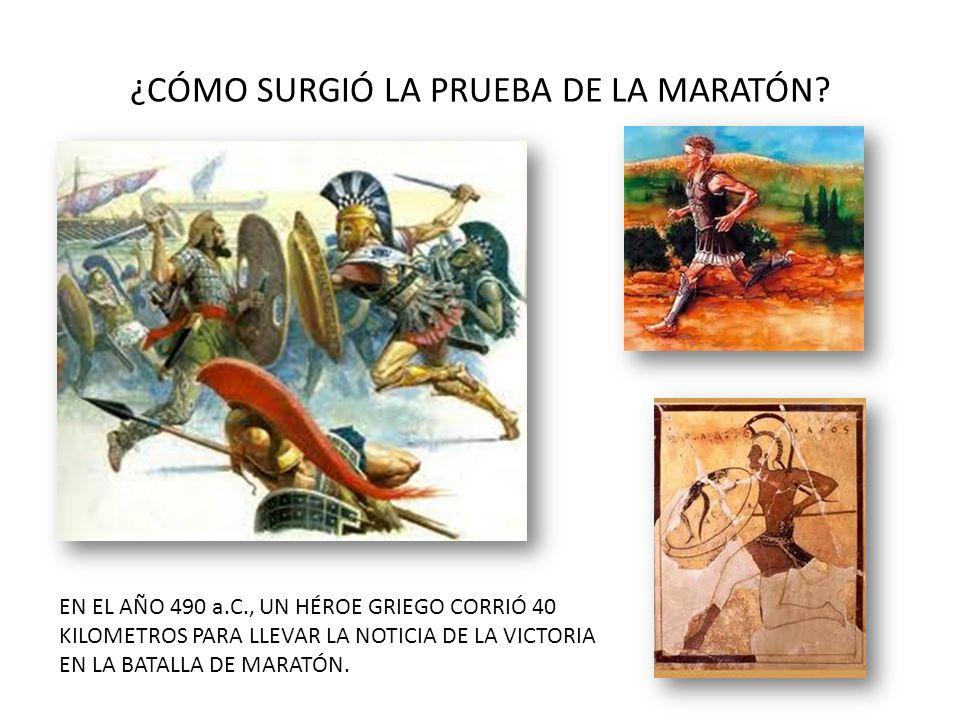 ¿CÓMO SURGIÓ LA PRUEBA DE LA MARATÓN.