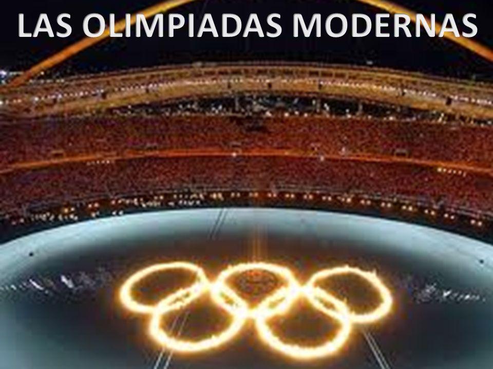 Coubertin, padre de las olimpiadas modernas Debemos unir a los deportistas de todo el mundo en una competición bajo el signo de la unión y la hermandad, sin ánimo de lucro y sólo por el deseo de conseguir la gloria.,