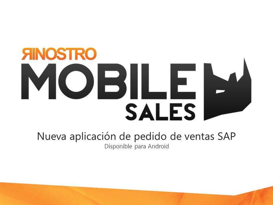 Nueva aplicación de pedido de ventas SAP Disponible para Android