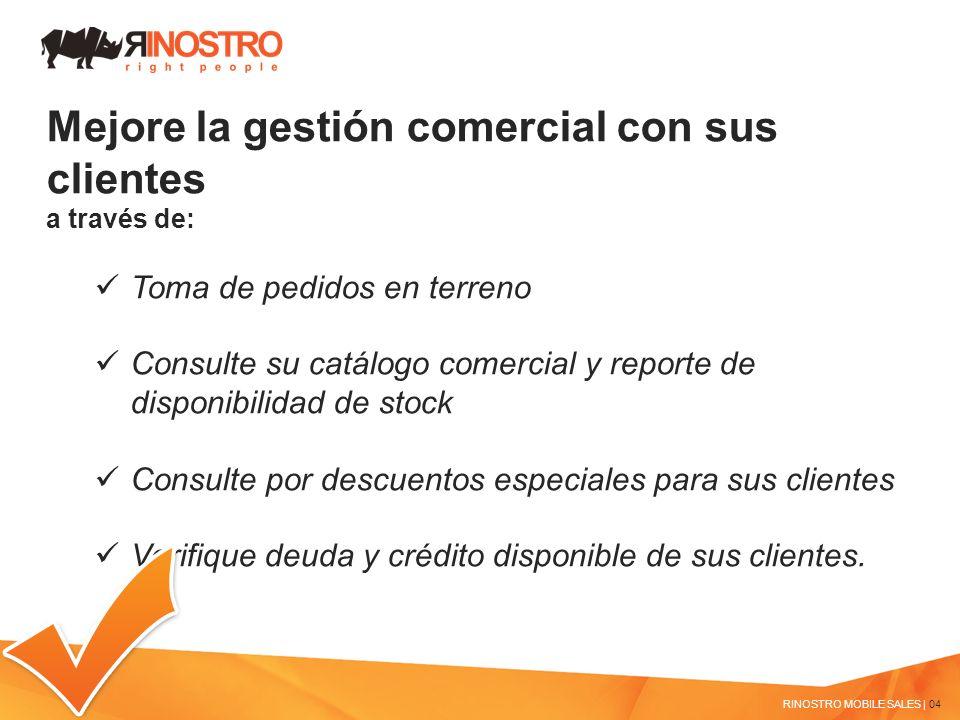 Mejore la gestión comercial con sus clientes a través de: Toma de pedidos en terreno Consulte su catálogo comercial y reporte de disponibilidad de sto