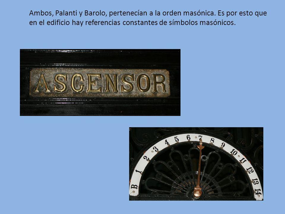 Ambos, Palanti y Barolo, pertenecían a la orden masónica. Es por esto que en el edificio hay referencias constantes de símbolos masónicos.