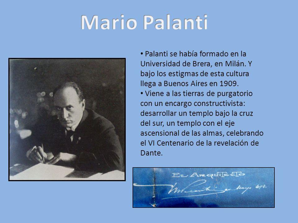 Palanti se había formado en la Universidad de Brera, en Milán. Y bajo los estigmas de esta cultura llega a Buenos Aires en 1909. Viene a las tierras d