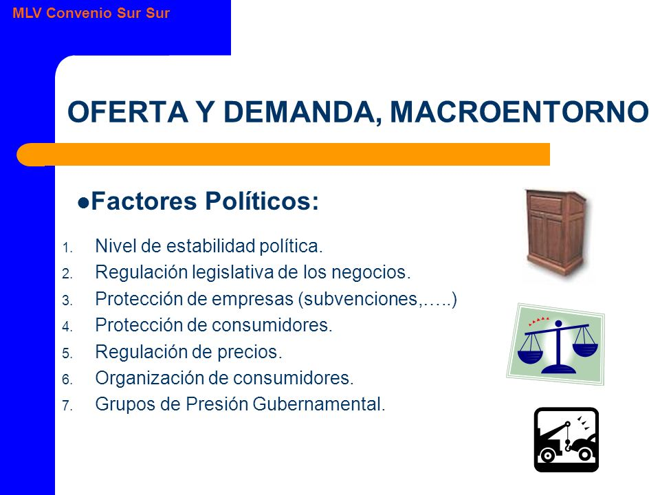 MLV Convenio Sur Sur OFERTA Y DEMANDA, MACROENTORNO 1.