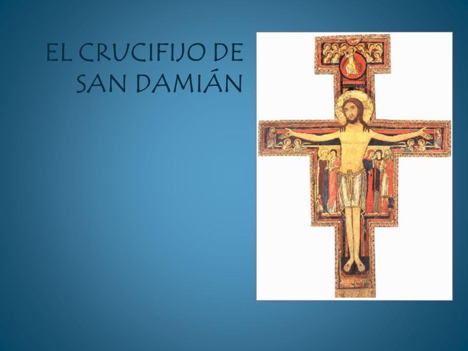 El Crucifijo fue pintado en el siglo XII por un artista umbro desconocido, en estilo románico, bajo una clara influencia oriental- siríaca.
