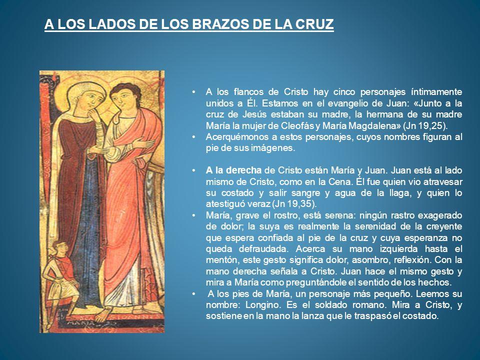 A los flancos de Cristo hay cinco personajes íntimamente unidos a Él. Estamos en el evangelio de Juan: «Junto a la cruz de Jesús estaban su madre, la