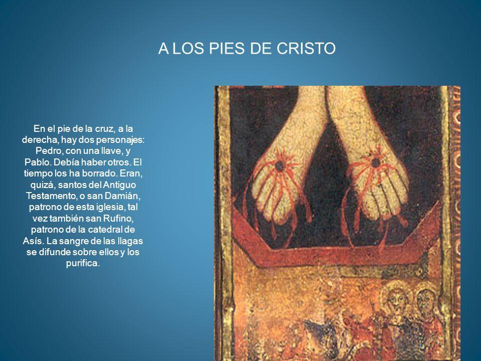 MARISA14 En el pie de la cruz, a la derecha, hay dos personajes: Pedro, con una llave, y Pablo. Debía haber otros. El tiempo los ha borrado. Eran, qui