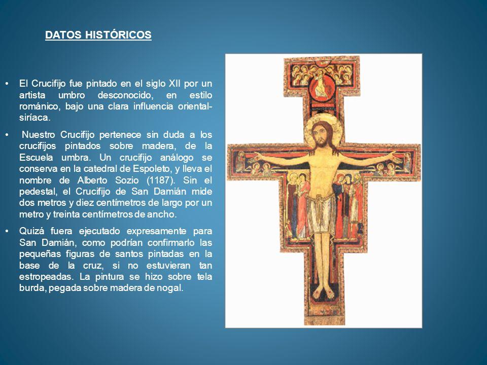 A la izquierda de Cristo hay tres personajes: dos mujeres y un hombre.