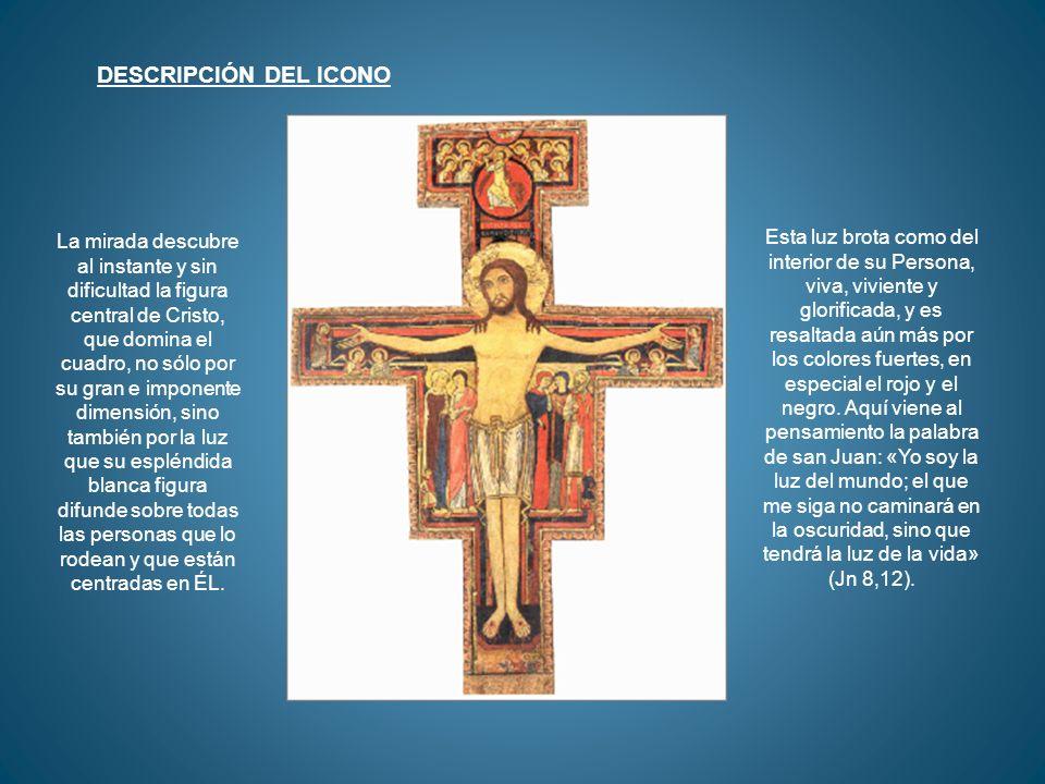 Sobre Pedro, a media altura frente a la pierna izquierda de Cristo, un gallo en actitud desafiante.