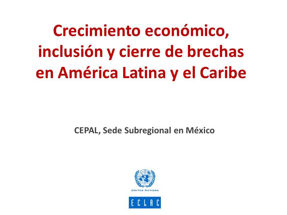 Estrategia de desarrollo inclusivo CRECIMIENTO ECONOMICO Políticas anti-volatilidad Política Fiscal: inclusivo de la inversión, redistribucion DESARROLLO INCLUSIVO PROTECCIÓN SOCIAL Protección social y convergencia productiva CONVERGENCIA PRODUCTIVA Y Cohesión Territorial CAMBIOS INSTITUCIONALES Instituciones laborales Confianza en las Instituciones Apoyo a la Democracia Percepciones sobre la desigualdad Pluriculturalidad