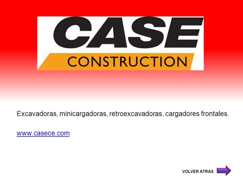Excavadoras, minicargadoras, retroexcavadoras, cargadores frontales. www.casece.com VOLVER ATRAS
