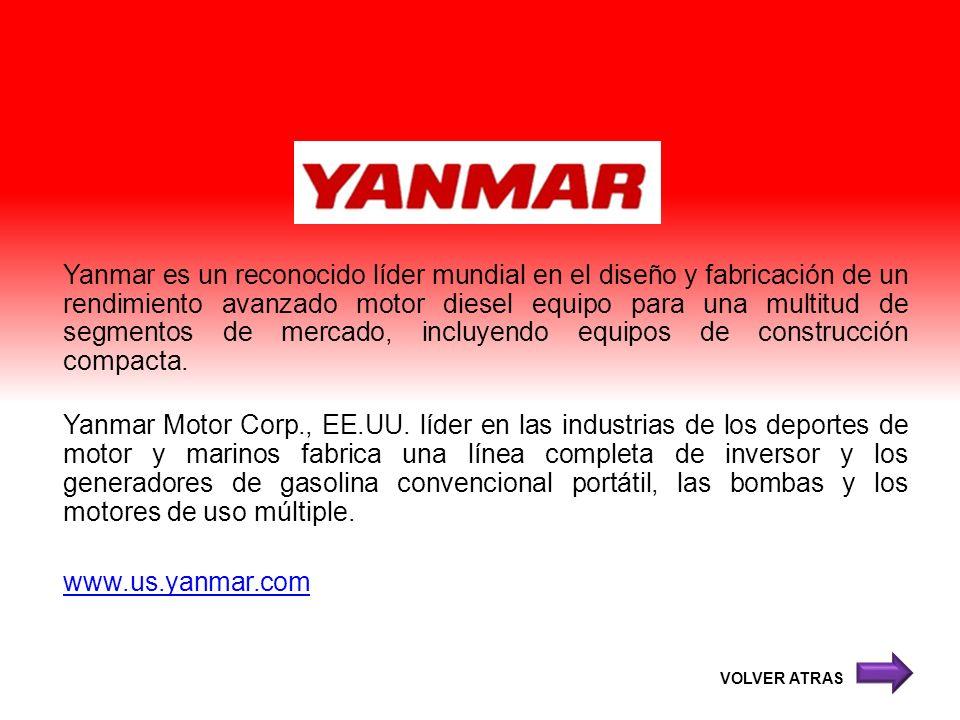Yanmar es un reconocido líder mundial en el diseño y fabricación de un rendimiento avanzado motor diesel equipo para una multitud de segmentos de merc