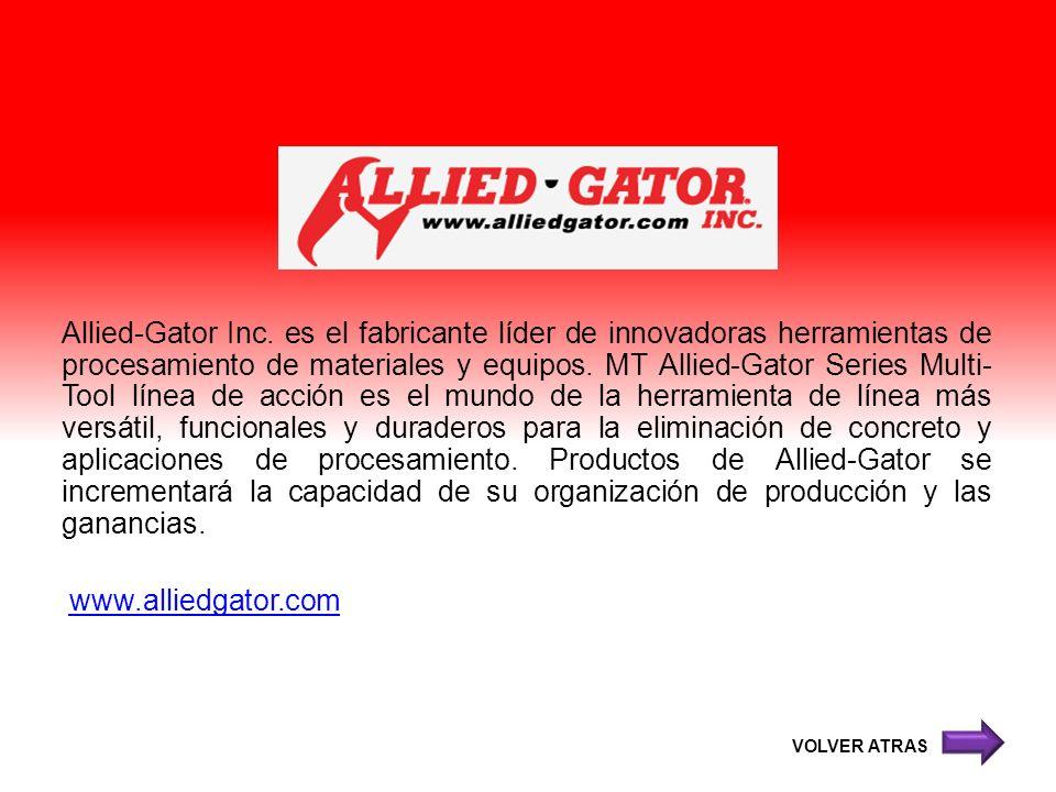 Allied-Gator Inc. es el fabricante líder de innovadoras herramientas de procesamiento de materiales y equipos. MT Allied-Gator Series Multi- Tool líne