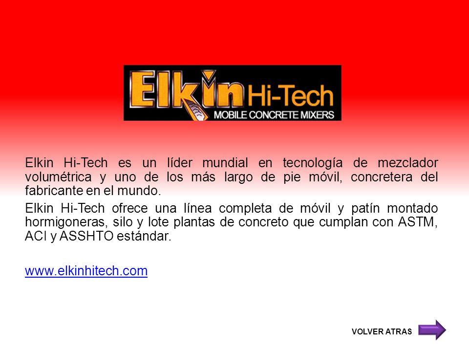 Elkin Hi-Tech es un líder mundial en tecnología de mezclador volumétrica y uno de los más largo de pie móvil, concretera del fabricante en el mundo. E