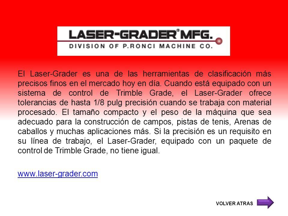 El Laser-Grader es una de las herramientas de clasificación más precisos finos en el mercado hoy en día. Cuando está equipado con un sistema de contro