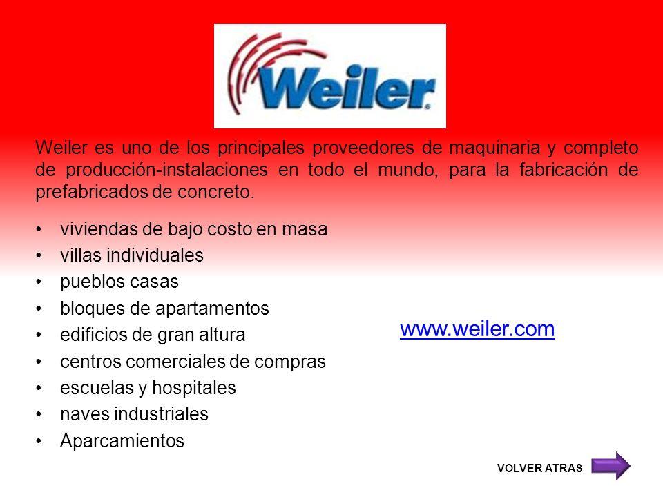 Weiler es uno de los principales proveedores de maquinaria y completo de producción-instalaciones en todo el mundo, para la fabricación de prefabricad