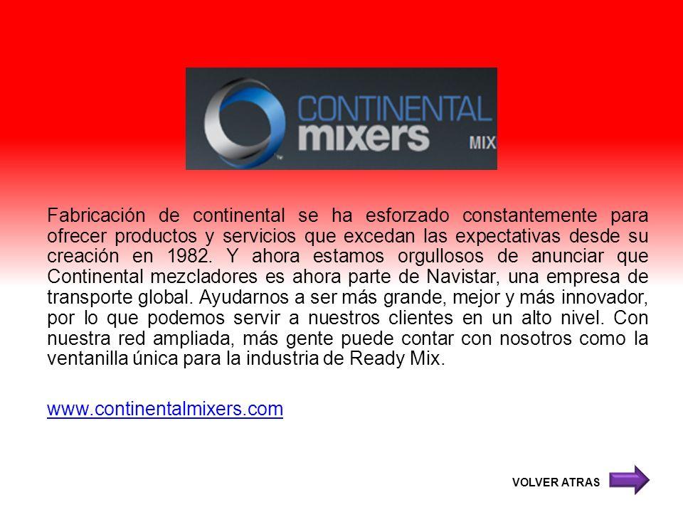 Fabricación de continental se ha esforzado constantemente para ofrecer productos y servicios que excedan las expectativas desde su creación en 1982. Y