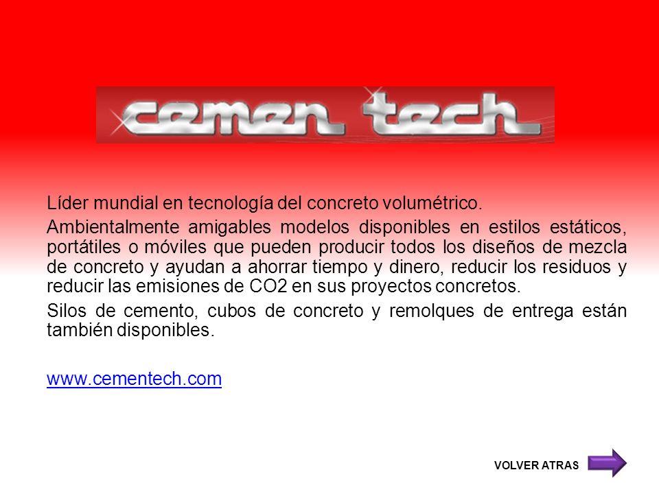 Líder mundial en tecnología del concreto volumétrico. Ambientalmente amigables modelos disponibles en estilos estáticos, portátiles o móviles que pued