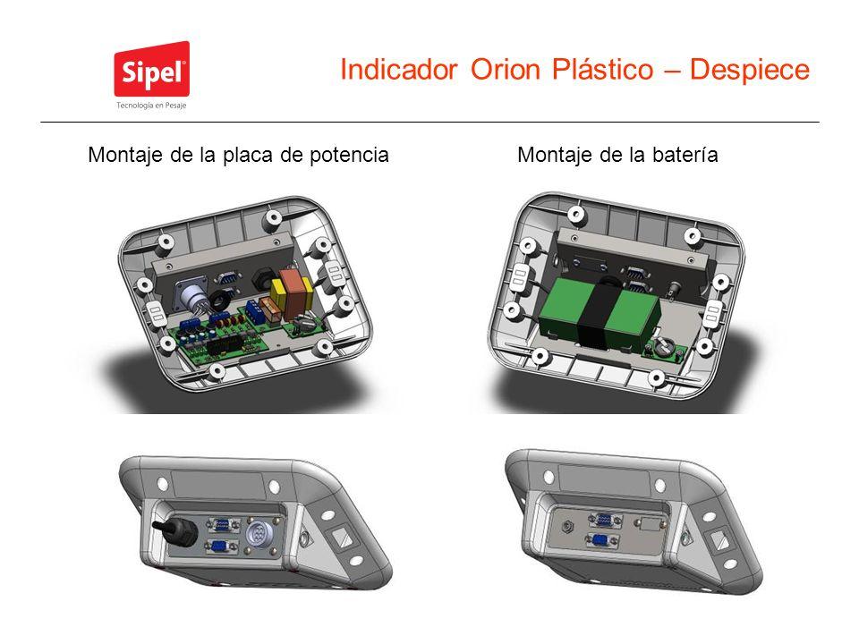 Indicador Orion Plástico – Despiece Montaje de la bateríaMontaje de la placa de potencia