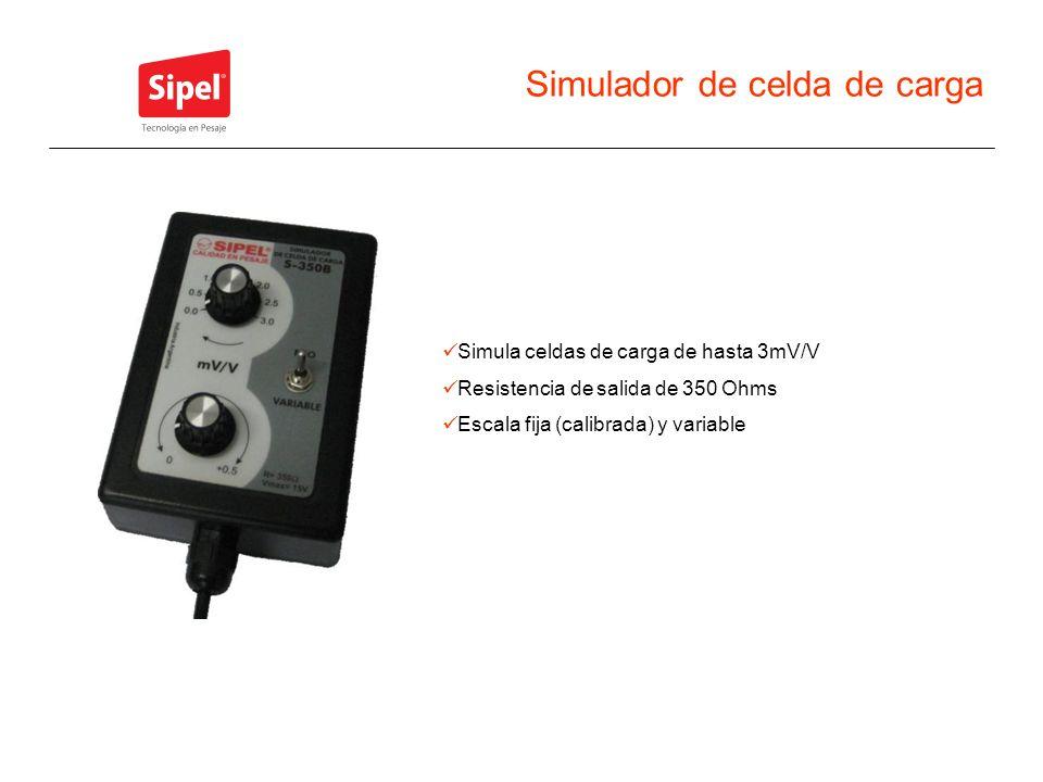 Simulador de celda de carga Simula celdas de carga de hasta 3mV/V Resistencia de salida de 350 Ohms Escala fija (calibrada) y variable