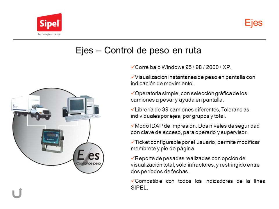 Ejes Corre bajo Windows 95 / 98 / 2000 / XP.