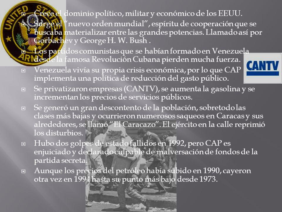 Crece el dominio político, militar y económico de los EEUU.