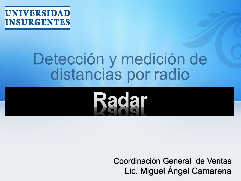 Detección y medición de distancias por radio Coordinación General de Ventas Lic. Miguel Ángel Camarena