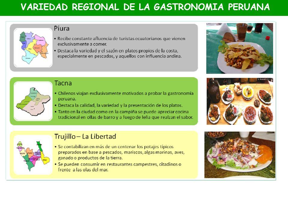 VARIEDAD REGIONAL DE LA GASTRONOMIA PERUANA