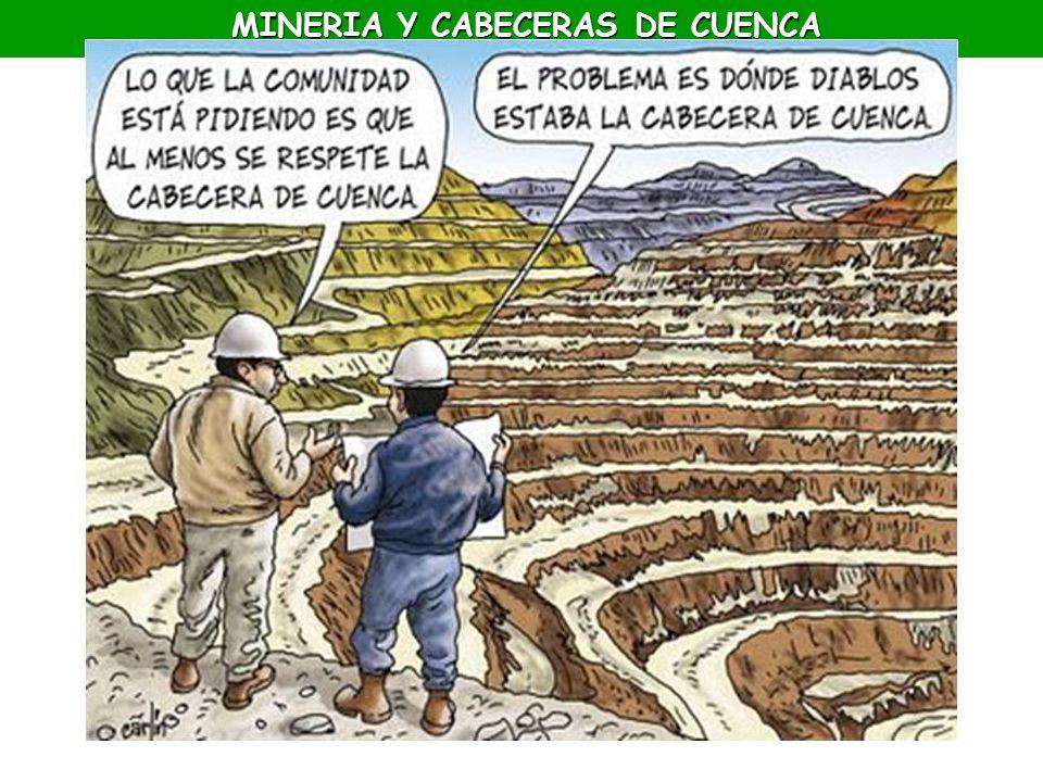 MINERIA Y CABECERAS DE CUENCA