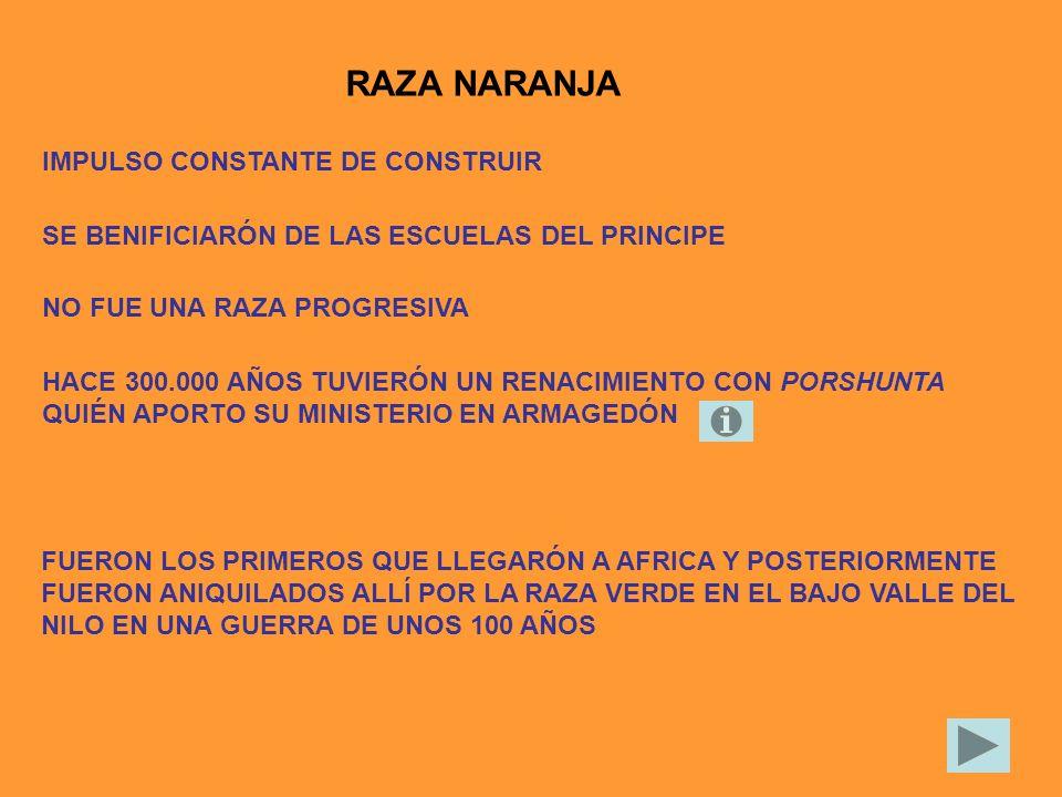 RAZA NARANJA IMPULSO CONSTANTE DE CONSTRUIR SE BENIFICIARÓN DE LAS ESCUELAS DEL PRINCIPE FUERON LOS PRIMEROS QUE LLEGARÓN A AFRICA Y POSTERIORMENTE FU