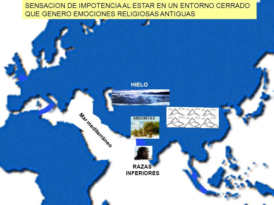 Mar mediterráneo ANDONITAS SENSACION DE IMPOTENCIA AL ESTAR EN UN ENTORNO CERRADO QUE GENERO EMOCIONES RELIGIOSAS ANTIGUAS HIELO RAZAS INFERIORES