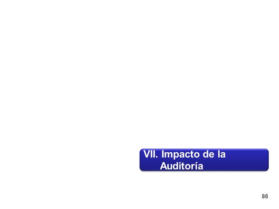 VII. Impacto de la Auditoría VII. Impacto de la Auditoría 86